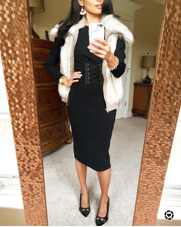 Faux Fur Vest Styled Three Ways